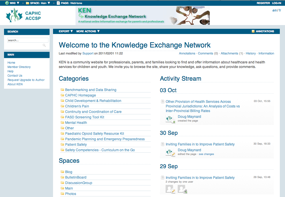Knowledge Exchange Network